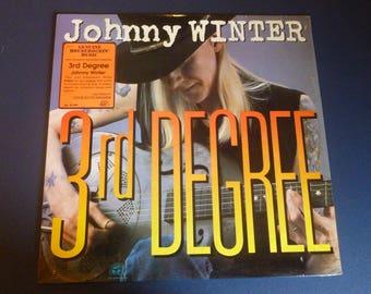 Johnny Winter 3rd Degree Vinyl Record LP AL 4748 Alligator Records 1986