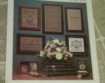 Barrett House, Samplers, Counted Cross Stitch, Second Tri, Vintage Pattern, Anniversary, Heirloom, Primitive,  OFG