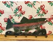 Fish Wall Decor | Key Rack | Wall Key Holder | Metal Fish Wall Art | Fish Decor | Fishing Decor | Outdoor Metal Art | Fish Key Rack