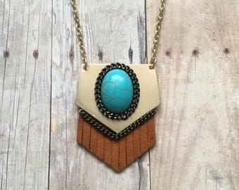 Gorgeous turquoise fringe necklace