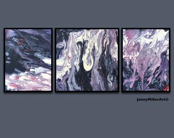 Modern Minimalist Art Abstract Art Print Gift for Her Art Black and Mauve Art Modern Wall Art Large Wall Decor Black Abstract Girlfrind Gift