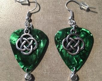 Celtic Guitar Pick earrings.