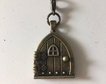 Gnome or Fairy Wish Door Locket, Zipper Pull or charm