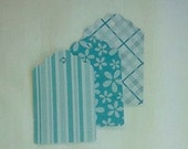 Blue Gift Tags / Fathers Day / Gift Tag Set / Turquoise Blue  / Vintage look / Gift Tags / Set of 15