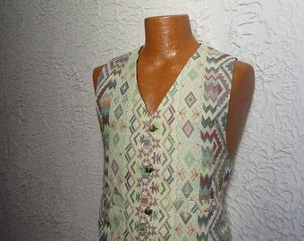Vintage Men's Hippie Gypsy Vest  Waistcoat sm/med.