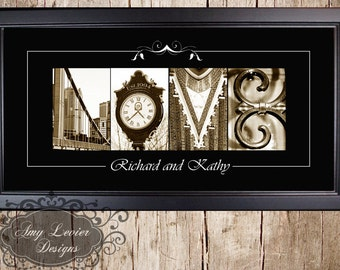 Alphabet Photography Custom Love 10 X 20 framed
