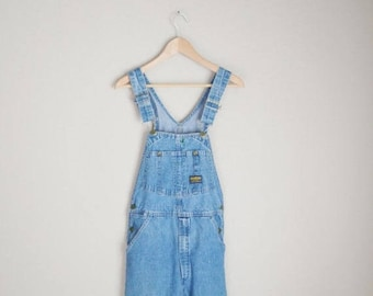 Vacation SALE - 10% off - vintage 80s osh kosh medium wash denim jean carpenter overalls -- 30x31-- womens small