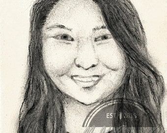 Personalized Mini Portrait Drawing