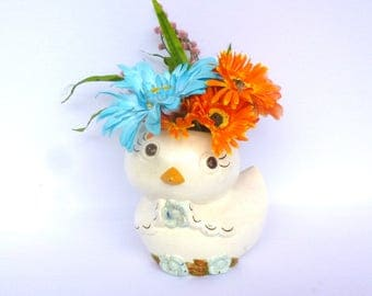VINTAGE  Big Eyed CHICKEN VASE