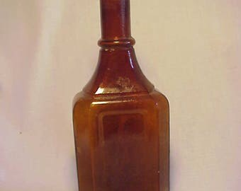 c1890s Kola Cardinette The Palisade Mfg. Co. Yonkers, N.Y. , Amber Cork Top Blown Glass Medicine Bottle