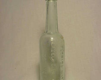 c1890s Florida Water Lazell Dalley & Co. New York, N.Y. , Cork Top Aqua Blown Glass Florida Water Perfume Bottle No. 3