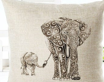 Elelephant Pillow Cover
