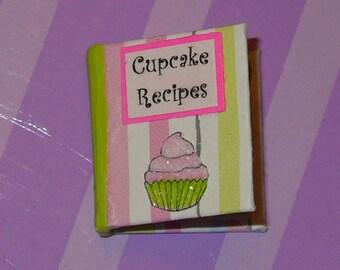 Dollhouse Miniature Cupcake Cookbook