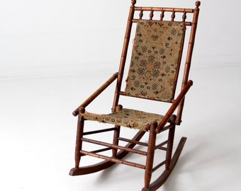 Victorian rocking chair, tapestry chair