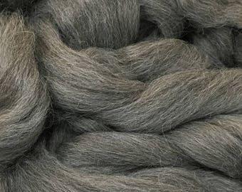 Alpaca Fiber Roving Top Medium Grey Superfine, 100 Grams, Spinning, Hearts Desire Fiber