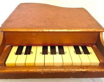 Circuit Bent Ancient vintage Electric Toy Piano Musical Xylophone