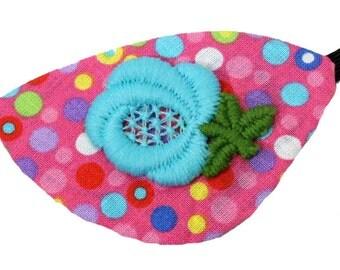 Pink Eye Patch Spring Zest Floral Cosplay Fashion Fantasy Blue Polka Dot