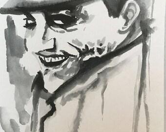 Heath Ledger Cop Joker Portrait 8x6 inch Original