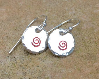 Moana Earrings, Sterling Silver Handstamped Moana Earrings, Moana Birthday , Natashaaloha