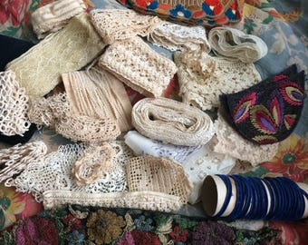 You'll Love Her Collection Of Antique Trims & Lace