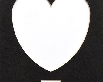 "Heart 8""x10"" Photo Mat with or without title window"