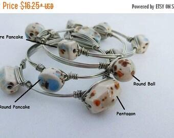 SALE Chunky Orb Jewelry   Silver   Orb Jewelry   Bangle Bracelet Set of 4 from my Charleston, SC Studio
