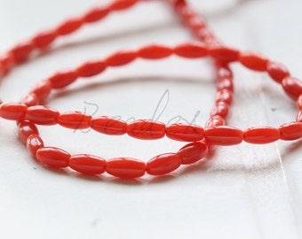 One Full Strand / Red / Coral / Semiprecious Stone / Gemstone