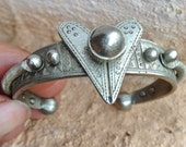 RESERVED RESERVED RESERVED Old Tuareg Bracelet with Heart & Knobs, Ihaggaren Tribe S Algeria, Boho, Gipsy, Tribal