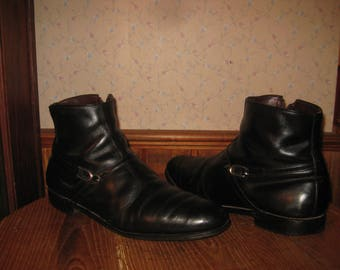 ALLEN EDMONDS   Hawthorn    Side Zip   Ankle Boot  /  Beatle Boot    Made In USA    Mens  12  B