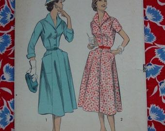 Vintage Pattern c.1950's Advance No.7968 Dress Size 14 1/2 Bust 34