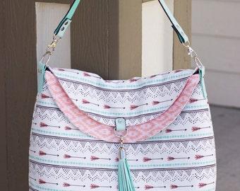Arrows Hippo Hobo Bag