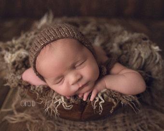 Newborn Tweed Fall Bonnet