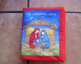 The Christmas Story Birth of Baby Jesus Quiet Soft Fabric Baby Toddler Story Book Handmade Ready to Read
