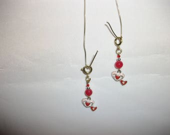 Pink n Red Hearts Charms