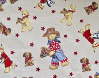 Cowboy Teddy Bear Flannel Travel Comfort Surgical Baby Toddler Small Day Care Nap Pillow