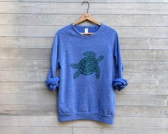 Sea Turtle Sweatshirt, Unisex Sweatshirt, Turtle Lover, Ocean, Xmas Gift, S,M,L,XL