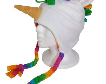 Rainbow Unicorn Fleece Hat