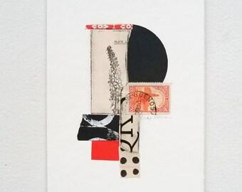 Original collage, vintage paper collage, paper collage