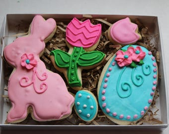 Easter Cookie Gift, Easter Desserts, Easter Gift Ideas, Easter, Easter Baskets, Easter Gifts, Easter Gifts for kids, Bunny Cookies, Cookie