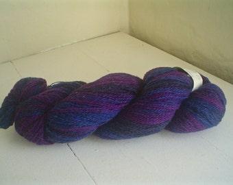 Kauni Effektgarn Dark Blue to Purple Wool Sport Weight Yarn Destash