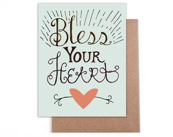 Bless your heart Card - Blank inside