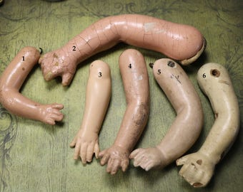 1 Vintage Composition Doll Arm