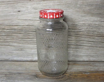 Vintage Old Judge Glass Coffee Jar Owl Kitchen Jar Country Farmhouse Kitchen Decor Storage Jar