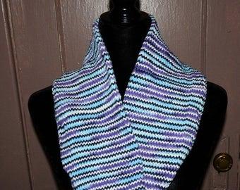 Knit Cowl Blue Multi