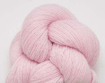 Pale Pink Carnation Recycled Cashmere Lace Weight Yarn, CSH00259