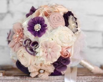 Purple Wedding bouquet , bridal bouquet, bridesmaids bouquets, purple bouquet, blush purple bouquet, wedding bouquet set
