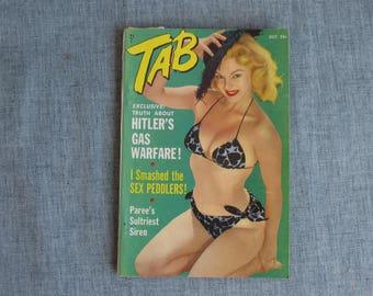Vintage Magazine 1954 Tab Magazine Pin Ups + more Ginger Grant, Blaze Starr
