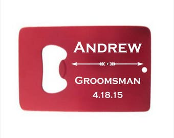 17 of Personalized Credit Card Bottle Opener - engraved bottle opener wedding favor, groomsman gift, colorful personalized party favor