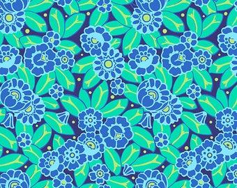 Camellia - SKY - PER 25CM - Amy Butler - VIOLETTE - PWAB139 - 100% Cotton Quilt Fabric