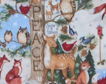Christmas Fabric, Old World Christmas Woodland, Susan Winget, Christmas Animals, Christmas Quotes, Cotton Fabric, By the Yard